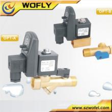 Válvula de solenóide de água de drenagem conteol elétrica com temporizador