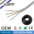SIPUO caliente vender utp cat5e lan cable 2pr 24awg fábrica precio