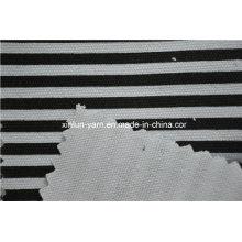 Tela de tela escocesa respirable de Stripple para los uniformes / el bolso de escuela