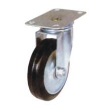 Roulette légère industrielle en caoutchouc noir