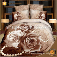 Hebei 2016 high quality 100% polyester 3D bedding set /duvet cover set