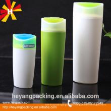 200 / 400ml de plástico verde y blanco HDPE botella de champú para el cabello