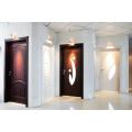 Bathroom Glass Inserts PVC Door