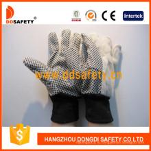 ПВХ Пунктирные холщовые хлопчатобумажные промышленные перчатки безопасности Dcd308