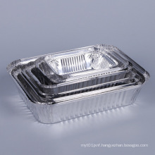 Disposable special tin tray Tinfoil bowl takeaway packaged aluminum foil lunch box Square barbecue box