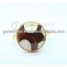 Oro natural plateado anillos de piedras preciosas al por mayor proveedor 925 Sterling Silver Gemstone Bezel Ring