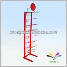 Soporte de stand de exhibición de malla de alambre de torre simple robusta simple de pie