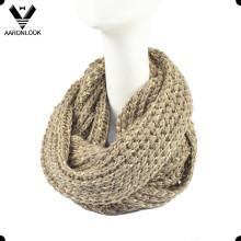 Últimas Trendy Knitted cuello calentador con hilos de cinta brillante