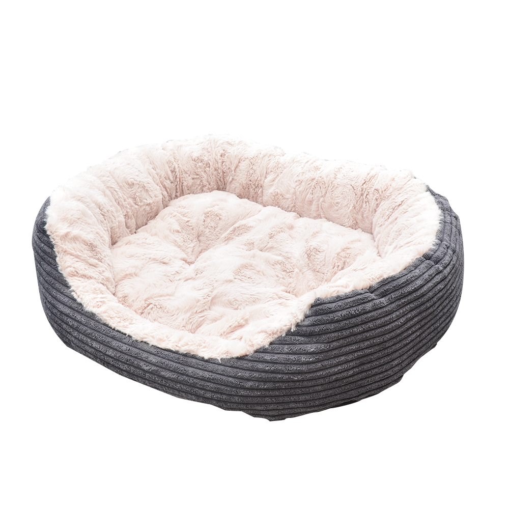 Pet Bed - Lounger Plush Cord 2
