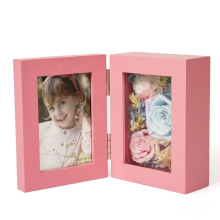High Quality Custom Wooden Foldable 3D Shadow Box Display preserved fresh flower good gift Photo  Picture Frame Wholesale