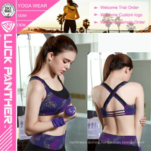 Custom Sublimated Young Ladies Sexy Yoga Sports Bra
