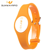 Perhiasan Buckle Strap Waterproof PVC RFID Wristband