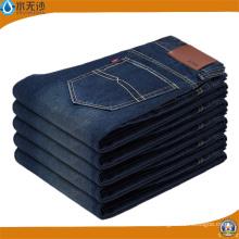 Vaqueros de mezclilla elásticos de lavado azul de alta calidad para hombres