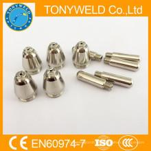 Para la boquilla y electrodo SG-55 AG-60 consumibles de corte de plasma 55A