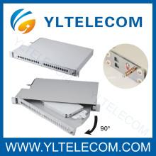 90 graus Rotatable fibra Patch Panel