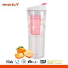 16OZ Everich Doble pared Tritan Nueva botella de jugo de fruta