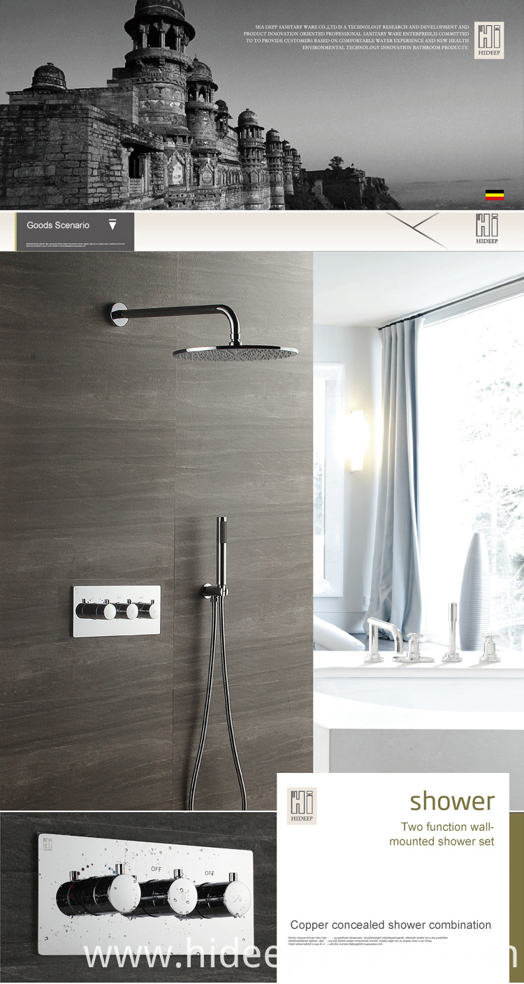 Brass Bath Thermostatic Shower Faucet