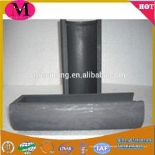 Caixa de grafite para derretimento de metal, barco de grafite