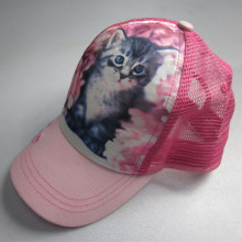 Enfants Cat Sublimation impression Trucker Cap avec corde