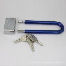 Cromado prateado quadrado longo cadeado Atom (CAP)
