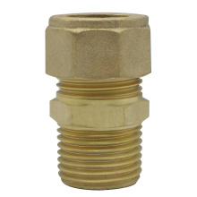 Compression Brass straight male coupler