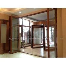 Customized Made Double Glazed Lowe Glass Balcony Folding Door/Bifolding Door