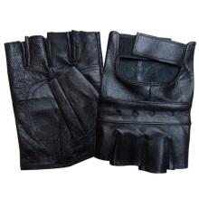 Luvas de condução de couro de pele de carneiro sem dedos moda masculina (yky5025)