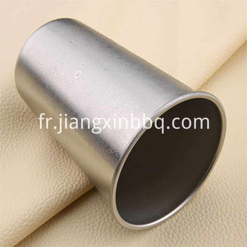 a stainless steel cup
