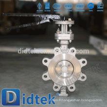 Didtek Triple Offset Low Torque Lug type Vanne papillon