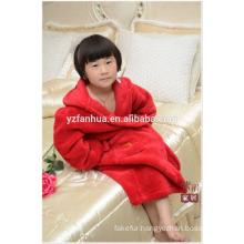Cheap wholesale children kids Soft Warm Fleece bathrobe with Hood