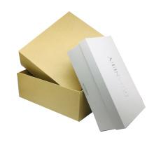 Custom Luxury White Gift Magnetic Packaging Box Clothing Storage Shoe Box Organizer With Ribbon Handle