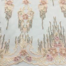 La última tela de bordado de perlas de prendas de vestir de 2019