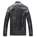 Новая Зимняя Мода Европейский Стиль Стенд Воротник Манжеты На Молнии Мужская Бордовая Байкерская Куртка Из Натуральной Кожи