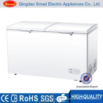 commercial fridge big deep freezer double door chest freezer