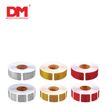 Red  Adhesive Reflective Conspicuity Tape For Vehicles  Trucks