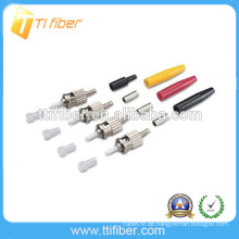 ST SM / MM Glasfaserverbinder mit gelb / schwarz / rotem Stiefel