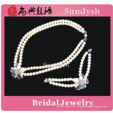 vintage de alta calidad hecho a mano de moda cristal funky rhinestone de lujo tradicional magenta joyería nupcial al por mayor