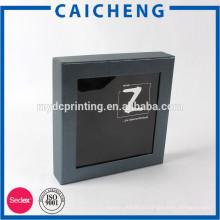 Производитель Китай черная бумажная коробка с окном PVC