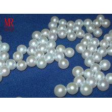 7-8mm weiße runde Süßwasserperlen Perlen