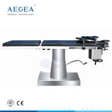 AG-OT028 económico mecánico de china fuente de suministro quirúrgico hidráulico movimientos cama de la sala de operaciones