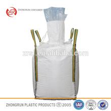 Forro do PE fibc - saco enorme do alimento branco dos PP com o forro do PE / saco a granel com os laços conner transversais com o saco interno plástico para dentro
