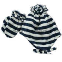 Promotion Lady Knitting Winter Warm Printed Polar Fleece Set