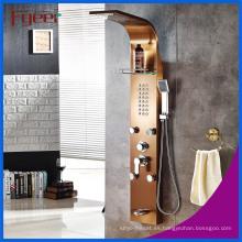 Fyeer Luxury 5 Function Massage Rainfall Panel de ducha de acero inoxidable