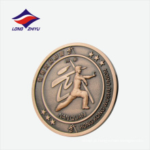 Emblema redondo personalizado de esportes de Wushu Union