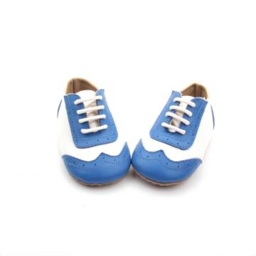 Lovely Navy Blue Kids Oxford Skor