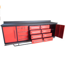 Qingdao 10ft Metal Work Bench With Tool Cabinets for sales