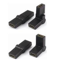 HDMI femelle vers HDMI adaptateur femelle 360 degrés