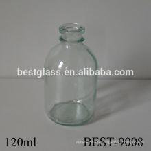 Bouteille de glucose médical de verre transparent de 4 onces