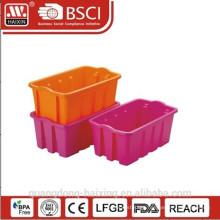 Plasitc stackable utility basket