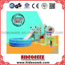 Umweltfreundliche Kunststoff-Indoor Slide und Swing mit Ball Pit